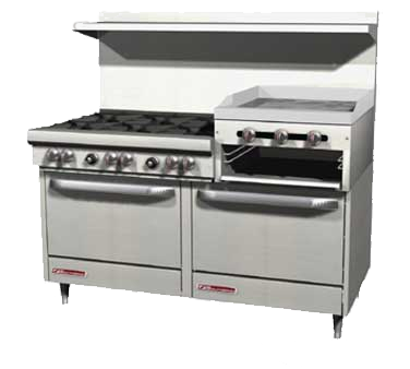Southbend 4605AA-2RR range, 60 restaurant, gas