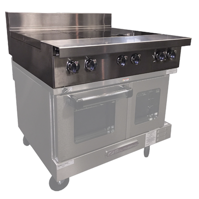 Southbend P36T-III induction range, floor model