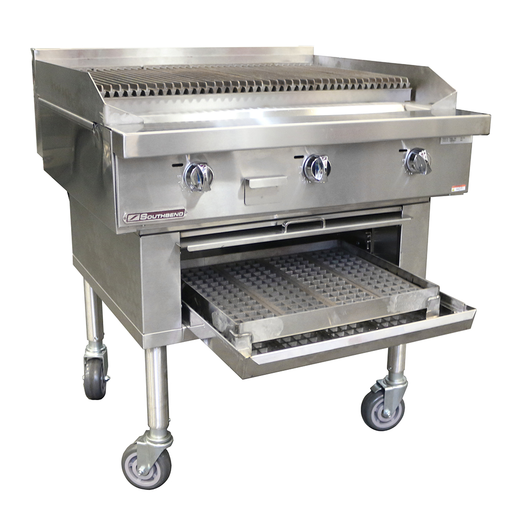 Southbend P60W-CCCCC charbroiler, wood burning
