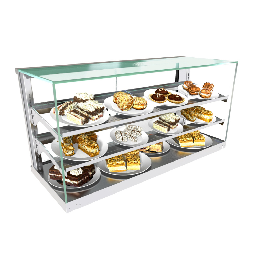 Structural Concepts CGSV6922 display case, non-refrigerated countertop