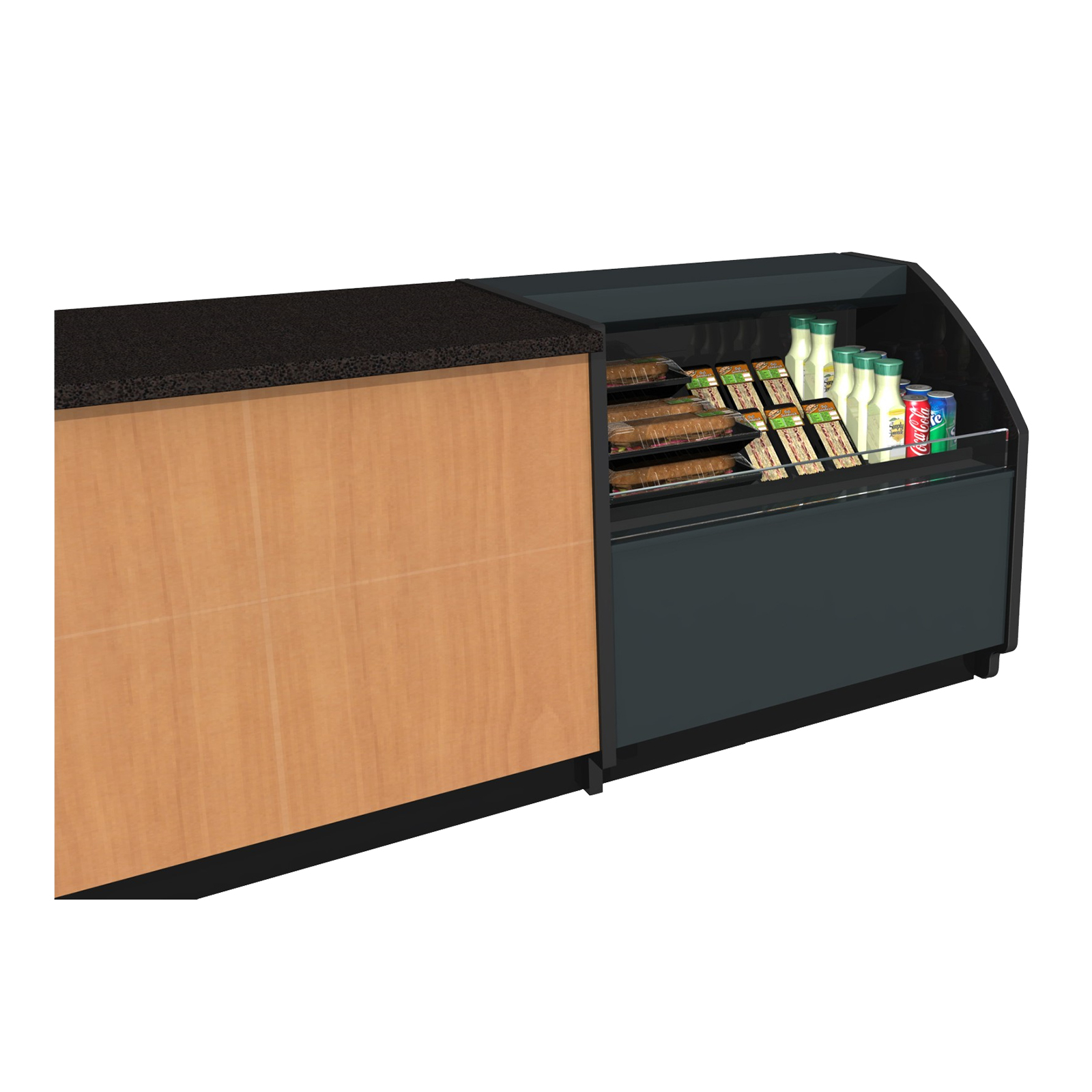 Structural Concepts CO3324R-FS merchandiser, open refrigerated display