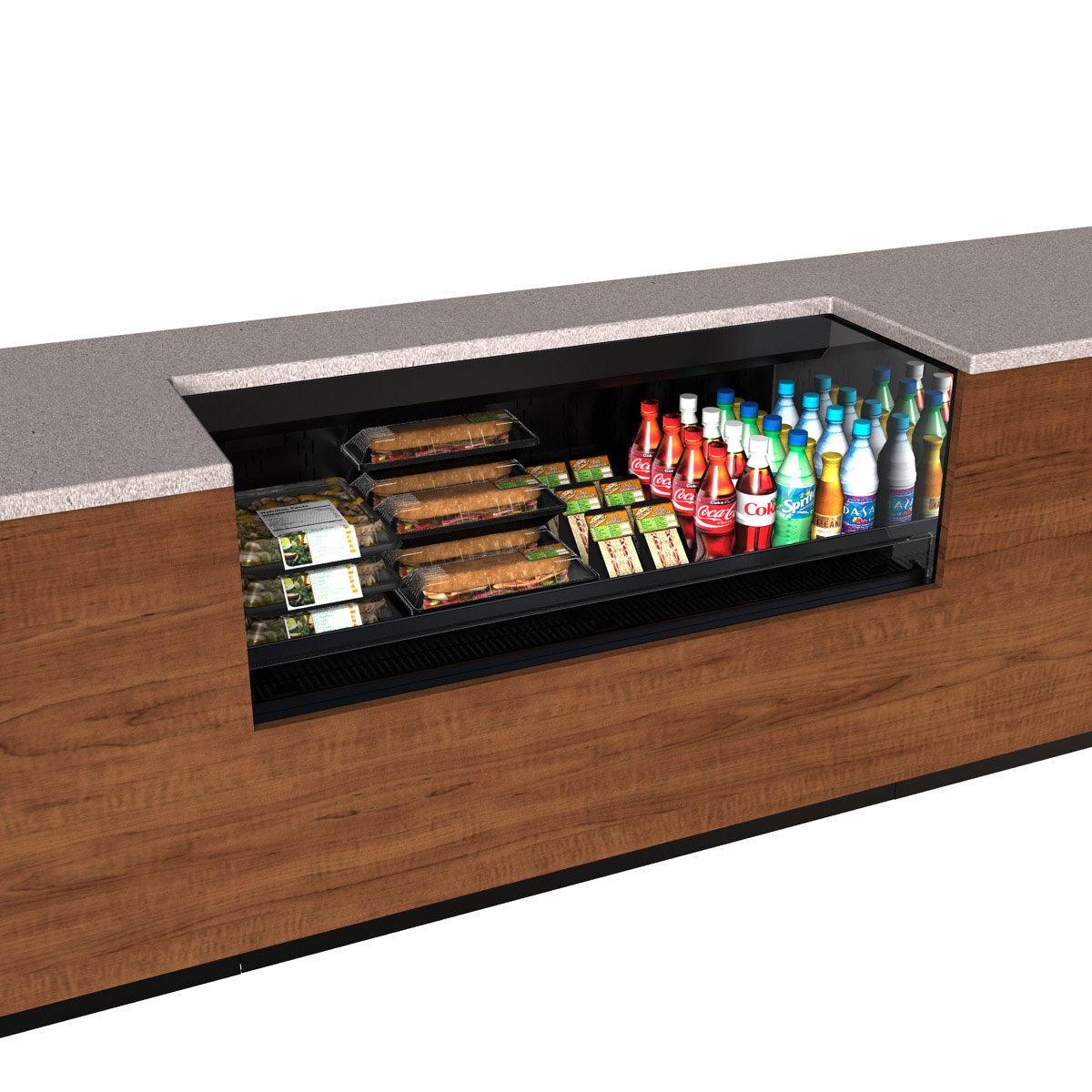 Structural Concepts CO4324R-UC-E3 merchandiser, open refrigerated display