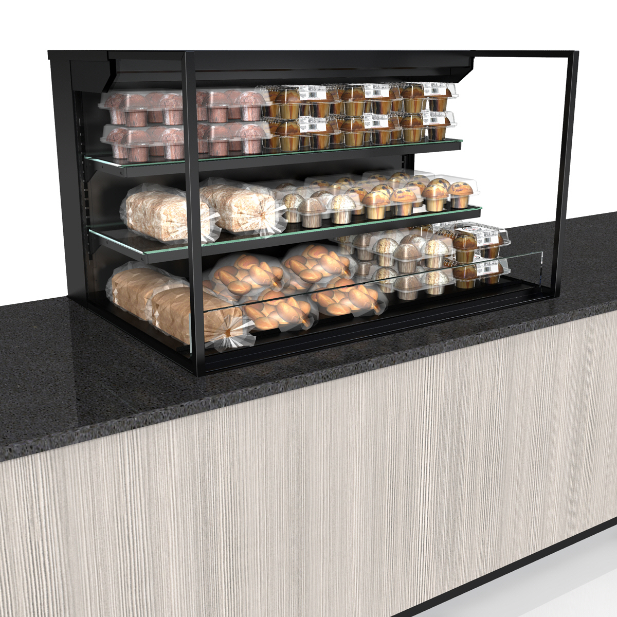 Structural Concepts NE4827DSSV display case, non-refrigerated, slide in counter