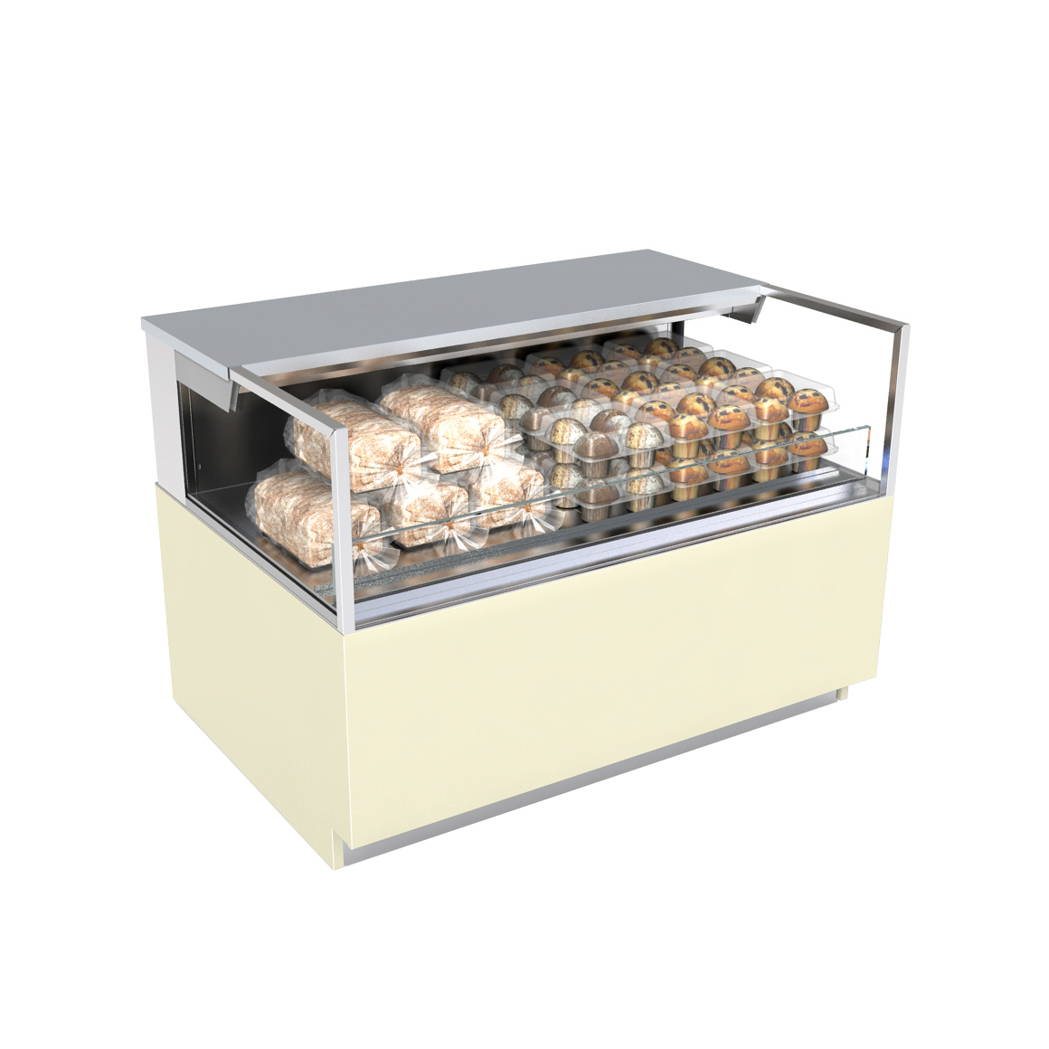 Structural Concepts NR3633DSSV display case, non-refrigerated, self-serve