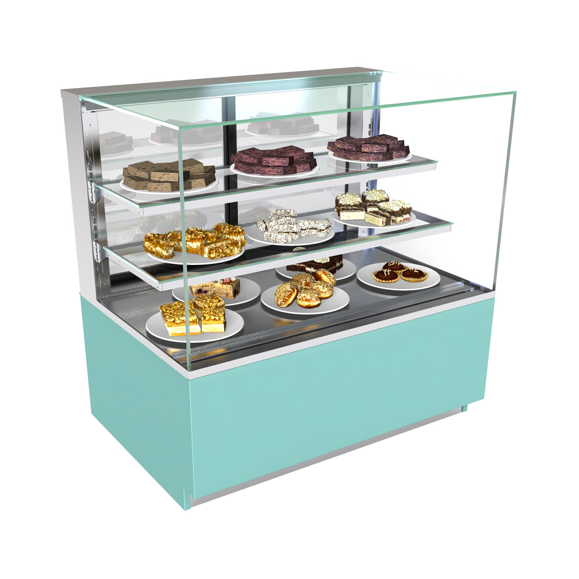 Structural Concepts NR4847DSV display case, non-refrigerated bakery
