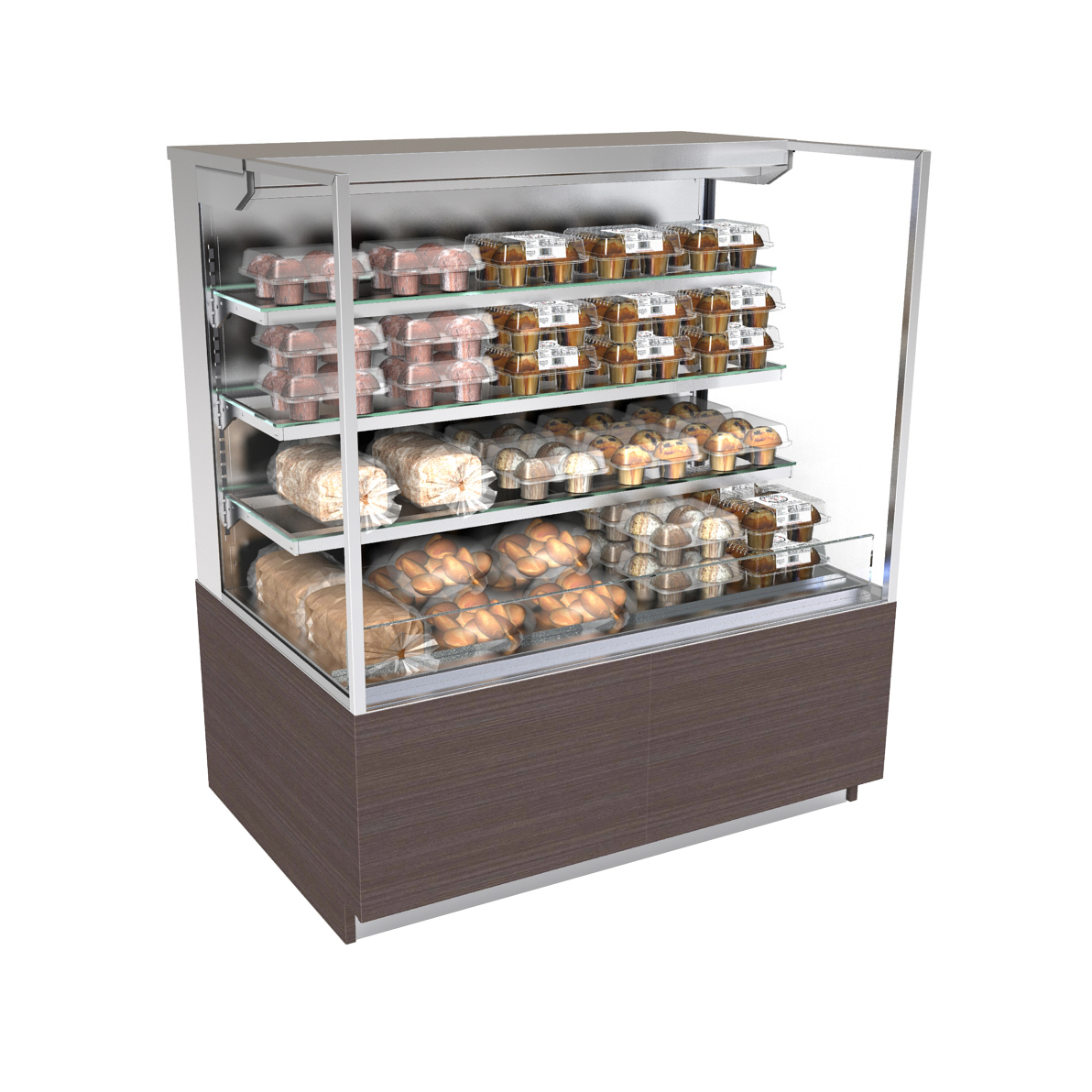 Structural Concepts NR4855DSSV display case, non-refrigerated, self-serve