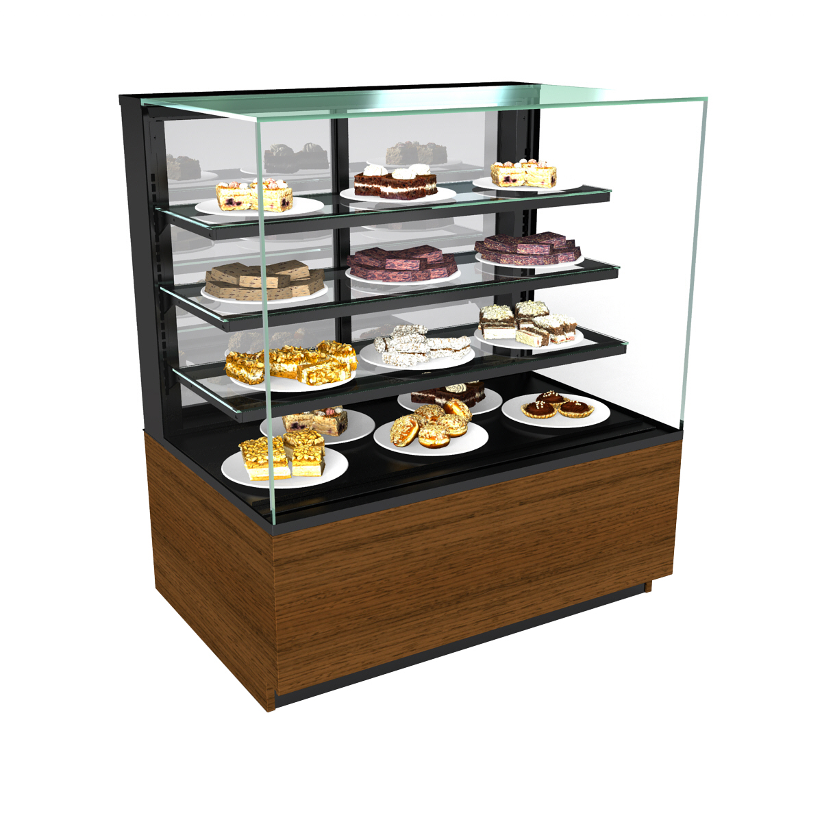 Structural Concepts NR4855DSV display case, non-refrigerated bakery