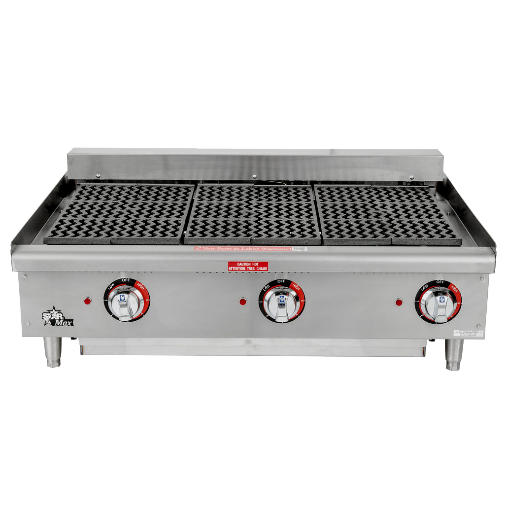 Star 5136CF charbroiler, electric, countertop