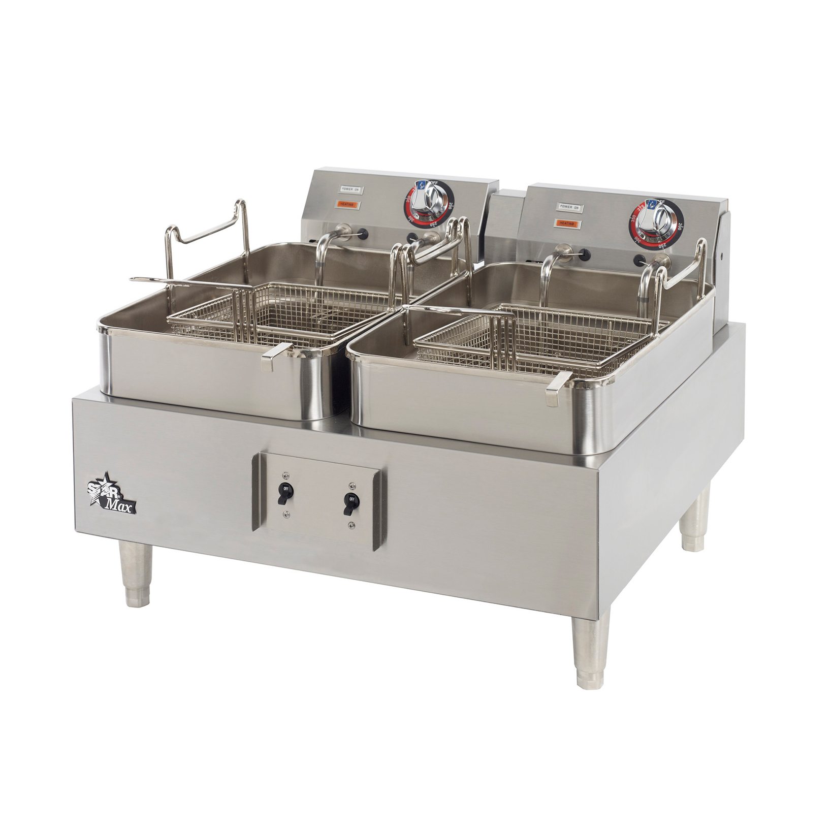Star 530TF fryer, electric, countertop, split pot