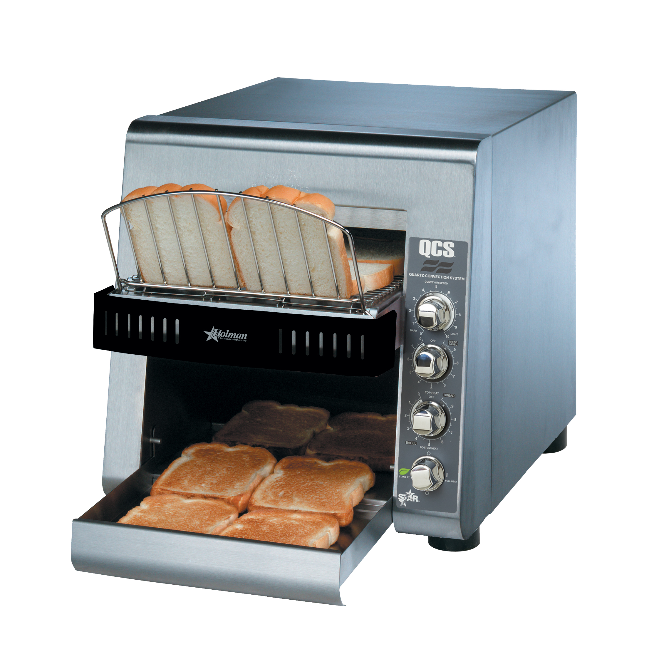 Star QCS2-500-120C toaster, conveyor type
