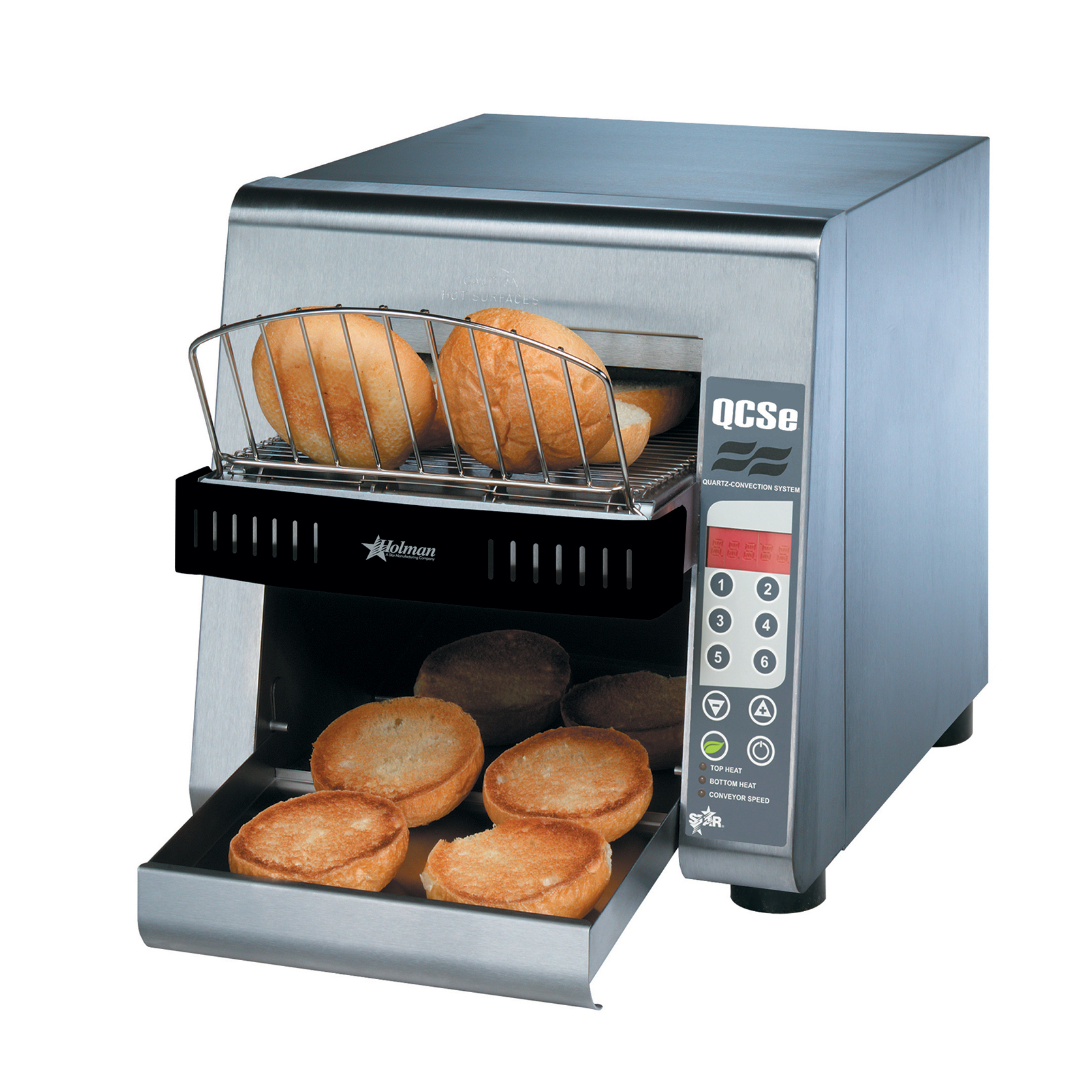Star QCS2-600H toaster, conveyor type