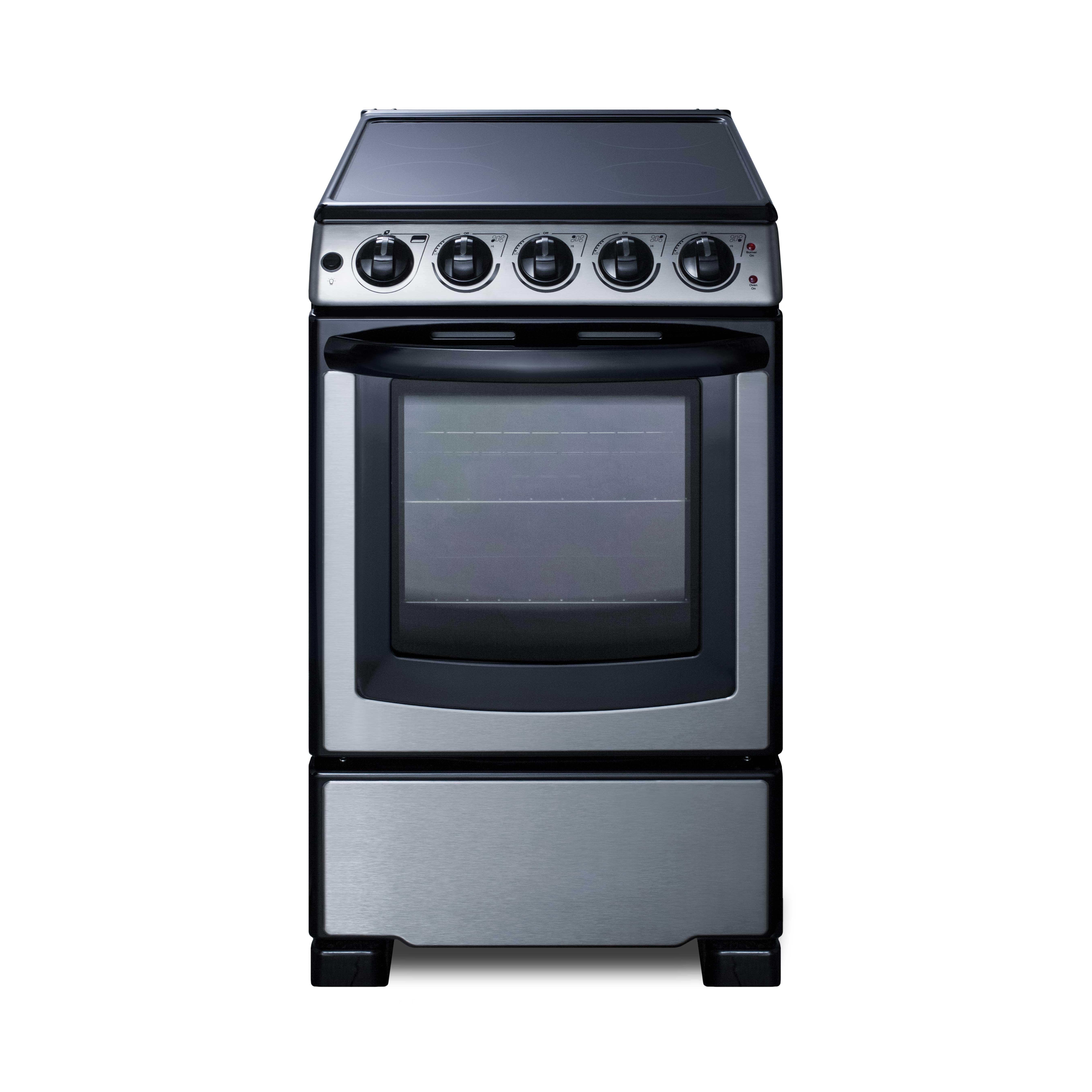 Summit Appliance REX2071SSRT range, residential domestic