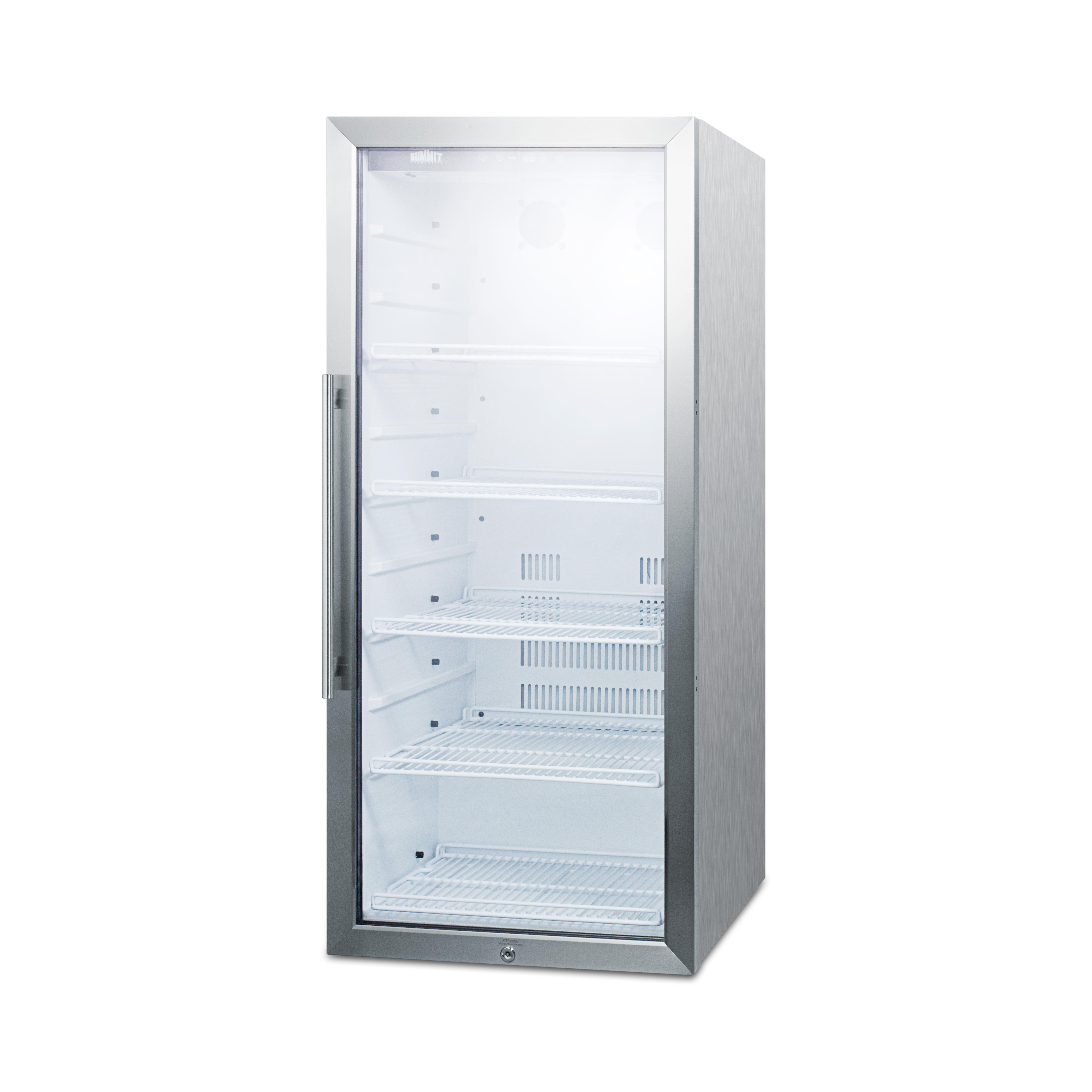 Summit Appliance SCR1006CSS refrigerator, merchandiser