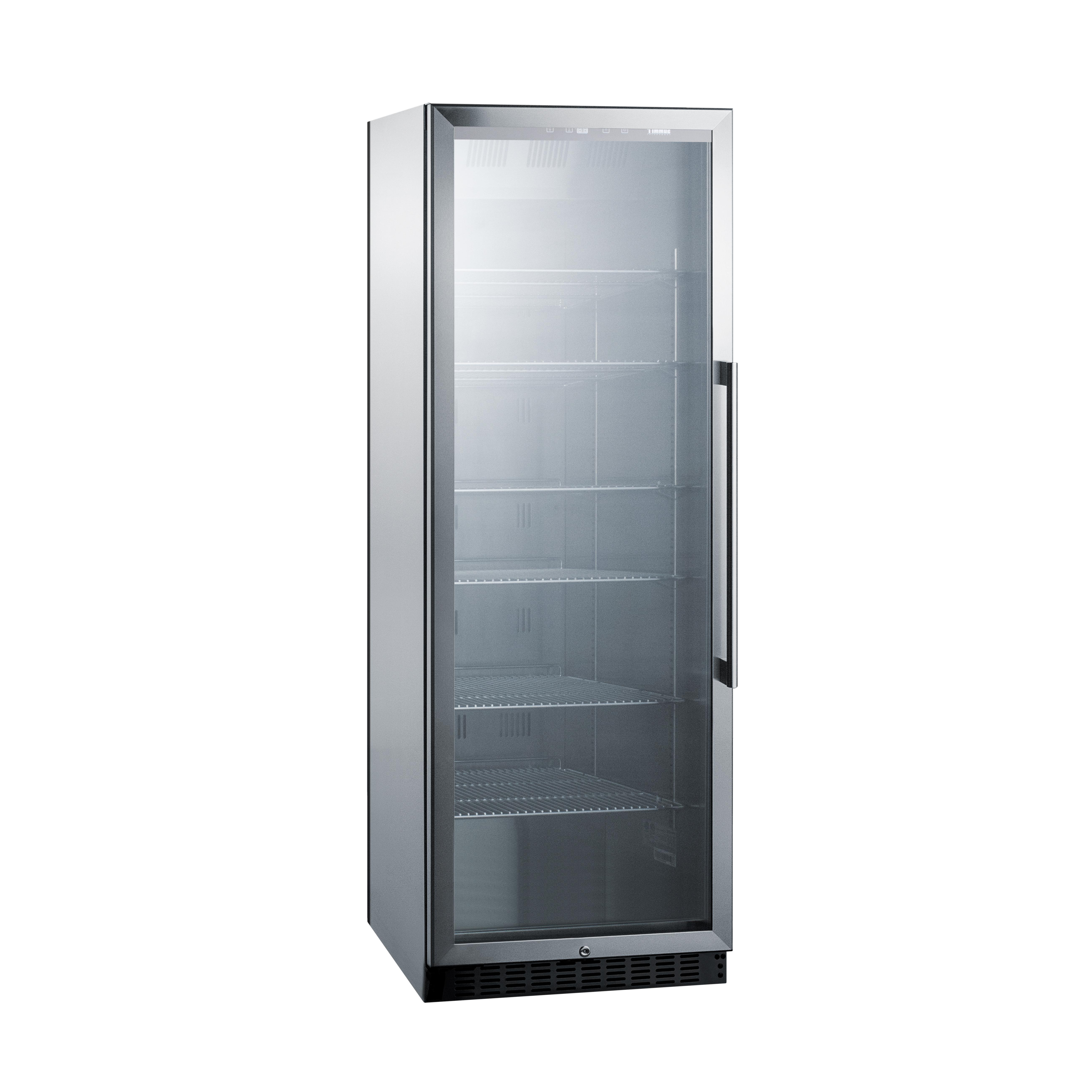 Summit Appliance SCR1401LHCSS refrigerator, merchandiser
