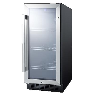 Summit Commercial SCR1536BG refrigerator, merchandiser, countertop