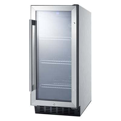 Summit Commercial SCR1536BGCSS refrigerator, merchandiser, countertop