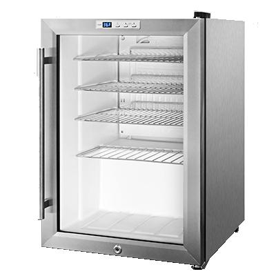 Summit Appliance SCR312LBICSS refrigerator, merchandiser, countertop