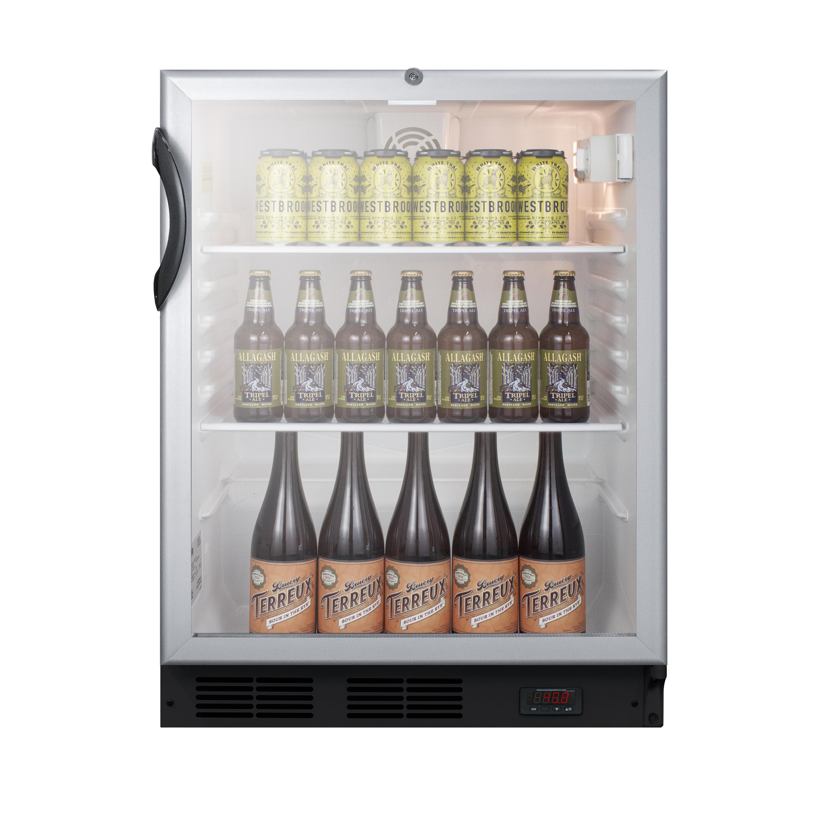 Summit Appliance SCR600BGLDTPUBADA refrigerator, merchandiser, countertop