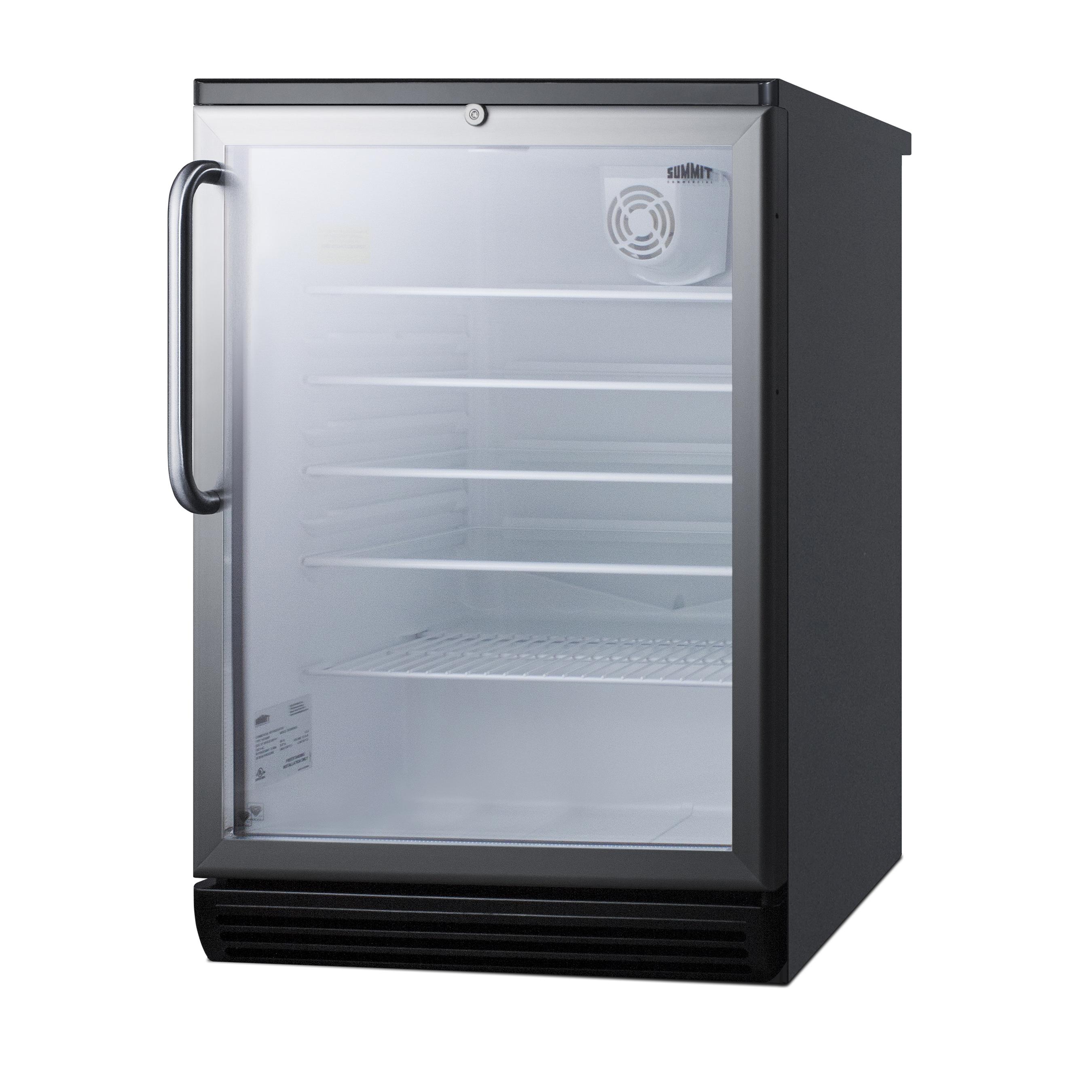 Summit Appliance SCR600BGLTB refrigerator, merchandiser, countertop