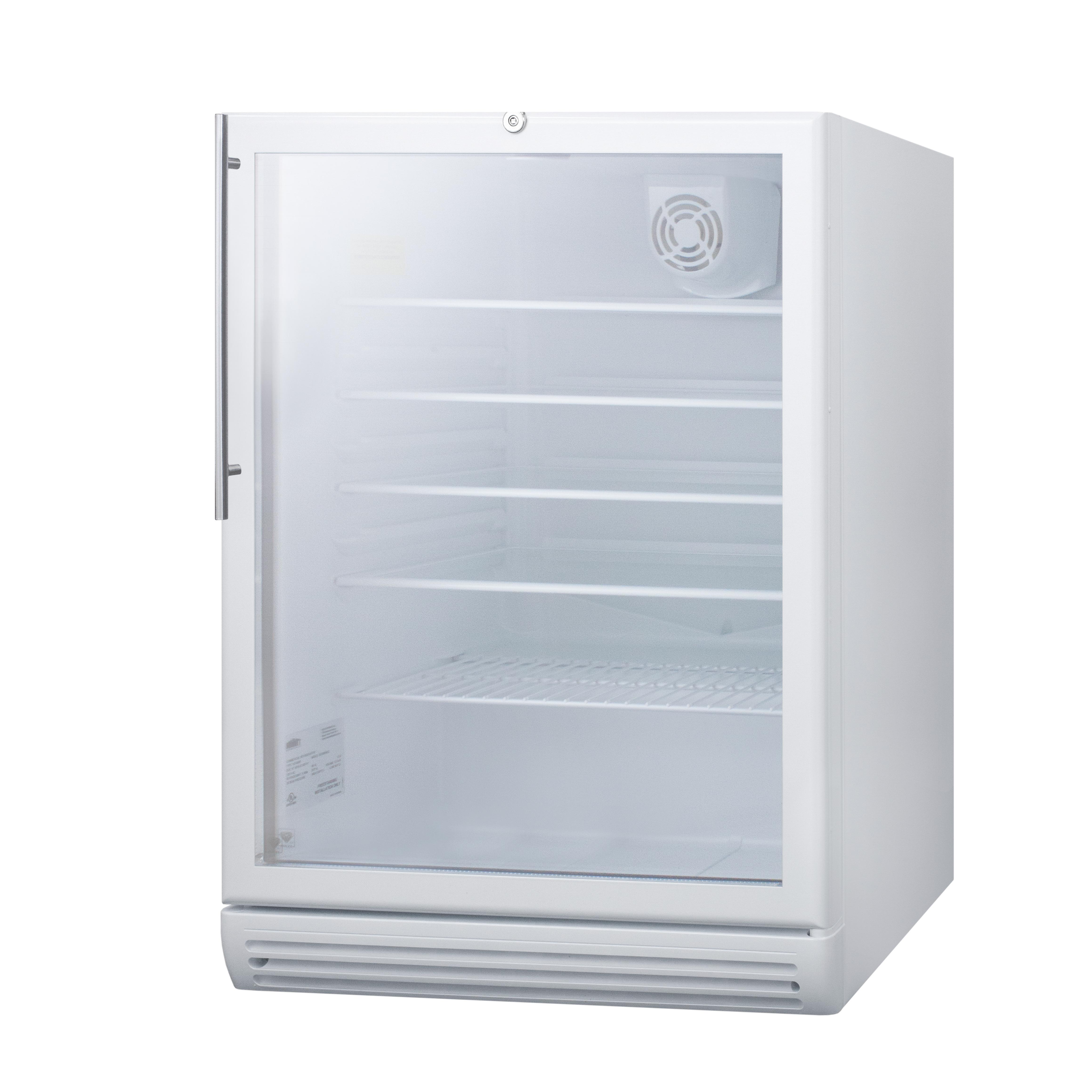 Summit Appliance SCR600GLBIHVADA refrigerator, merchandiser, countertop