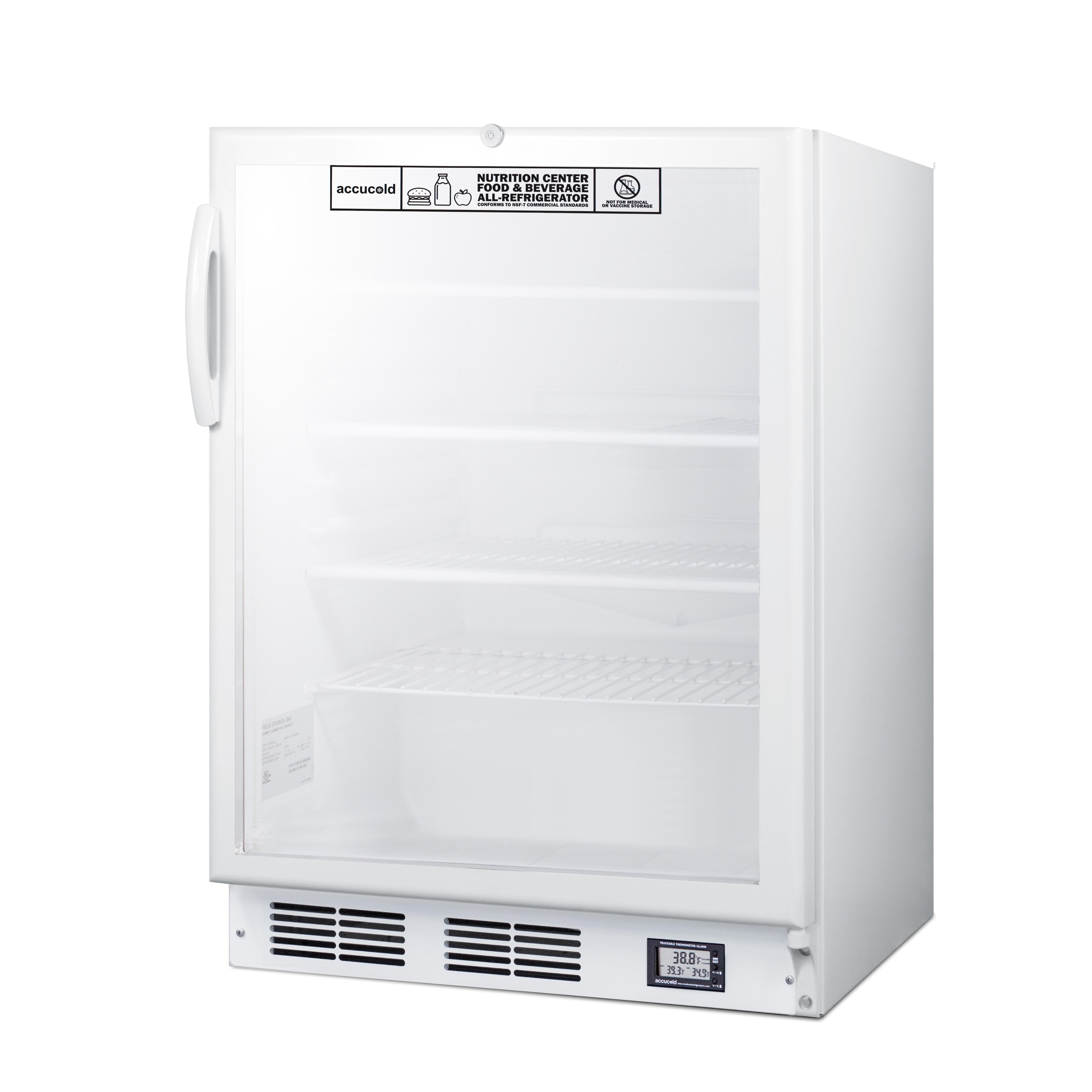Summit Appliance SCR600GLBINZADA refrigerator, undercounter, reach-in