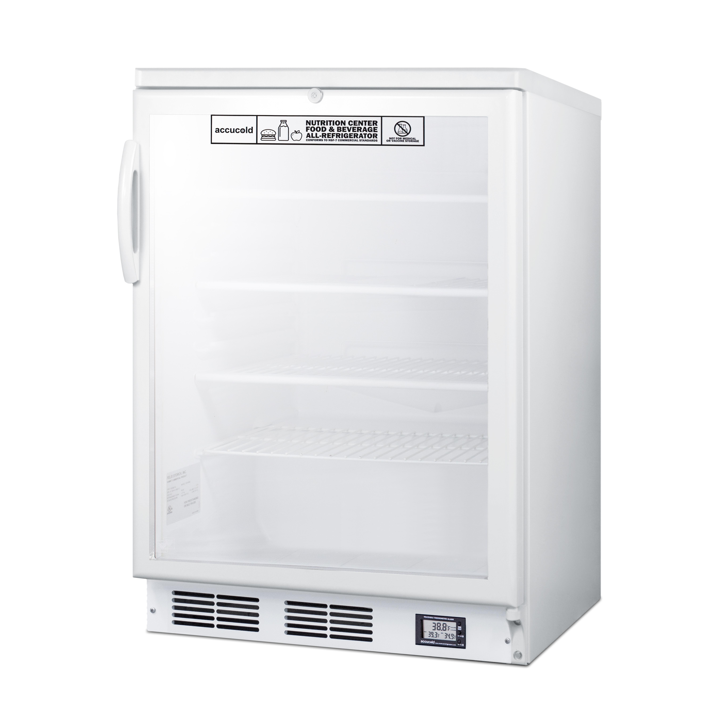 Summit Appliance SCR600GLNZ refrigerator, undercounter, reach-in