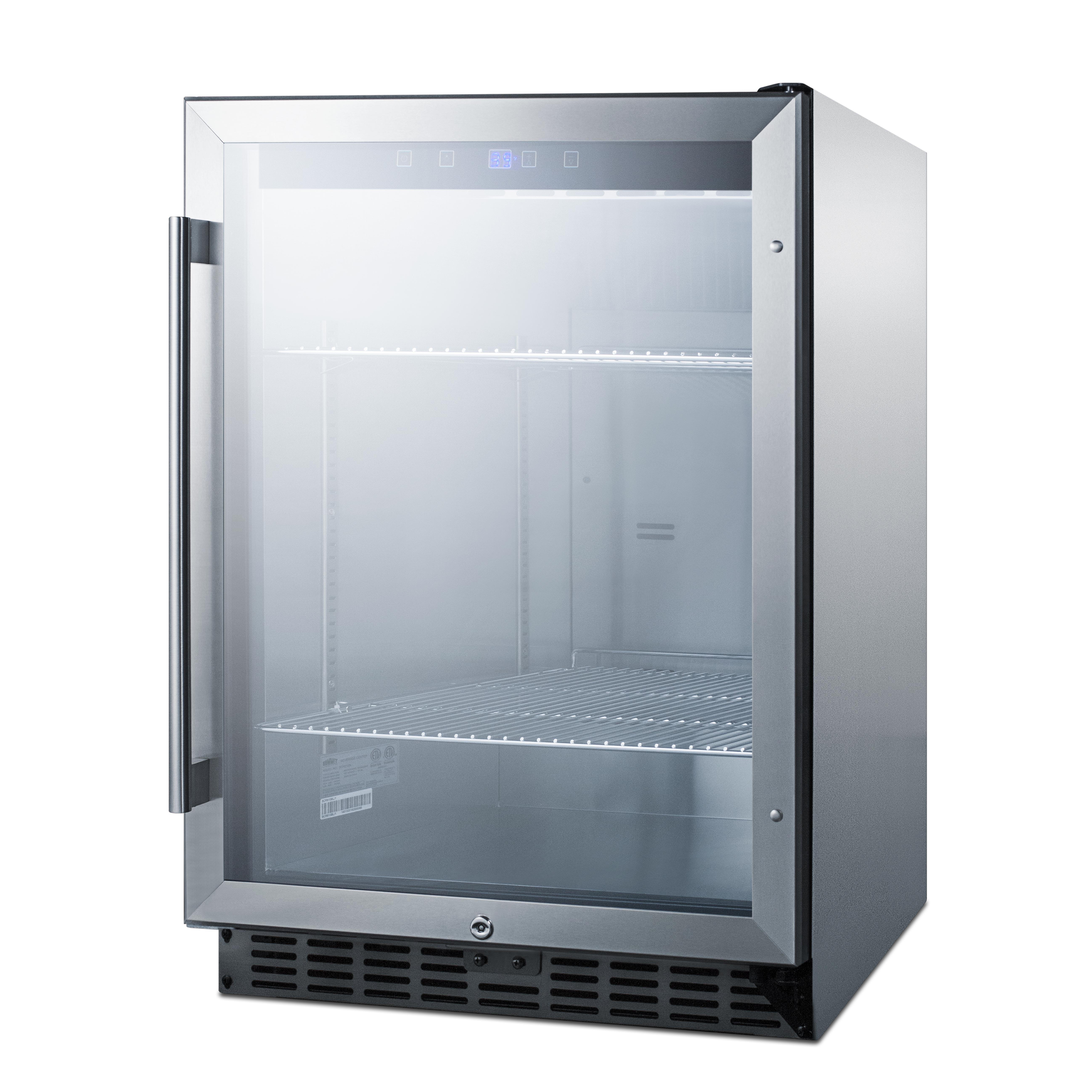 Summit Appliance SCR611GLOS refrigerator, merchandiser, countertop