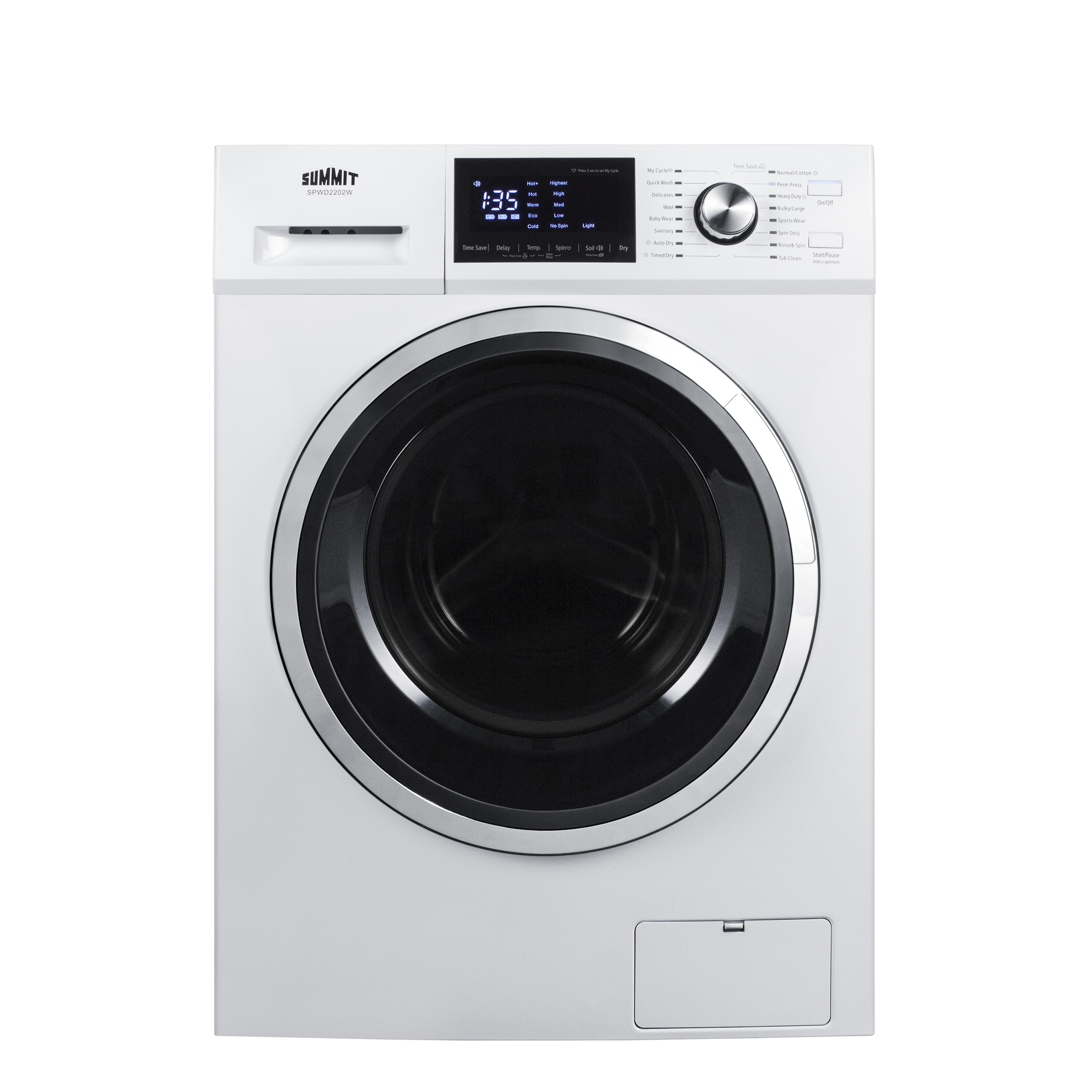 Summit Appliance SPWD2202W laundry washer / dryer combo