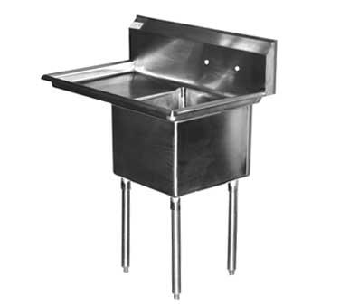 Serv-Ware 1CWPH1818L-18 sink, (1) one compartment