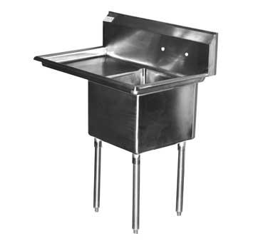 Serv-Ware E1CWP1824L-24 sink, (1) one compartment