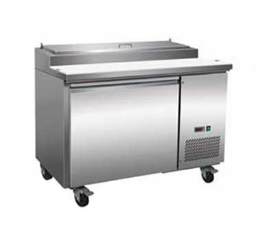Serv-Ware PP44-6 refrigerated counter, pizza prep table