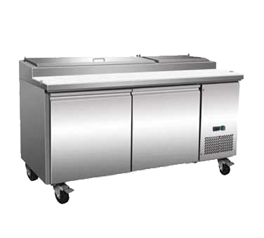 Serv-Ware PP67-9-HC refrigerated counter, pizza prep table