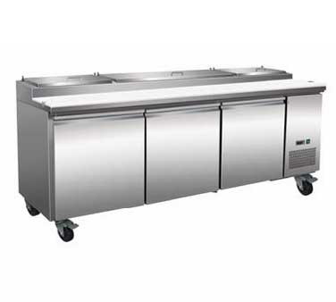 Serv-Ware PP93-12 refrigerated counter, pizza prep table