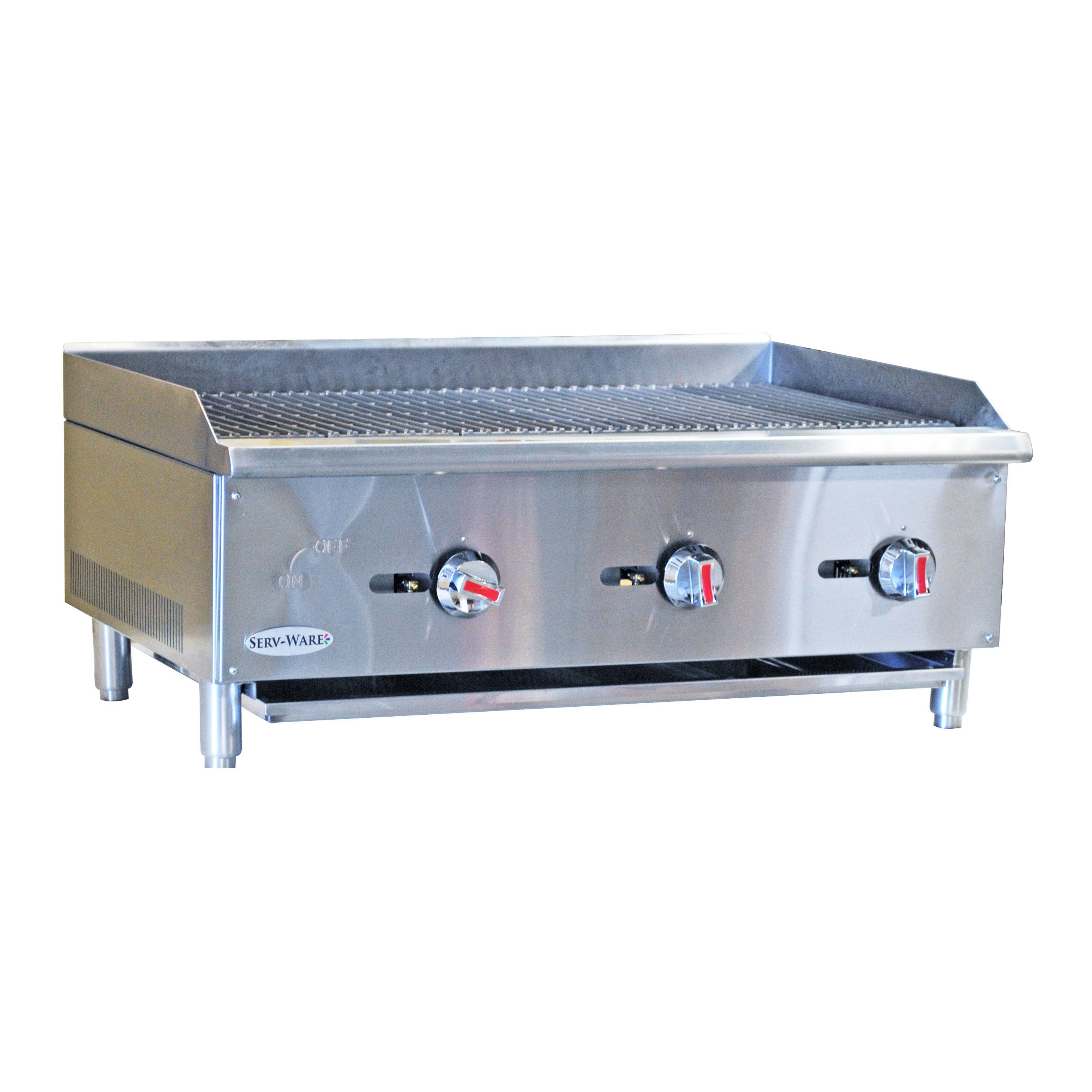 Serv-Ware SCBS-36 charbroiler, gas, countertop