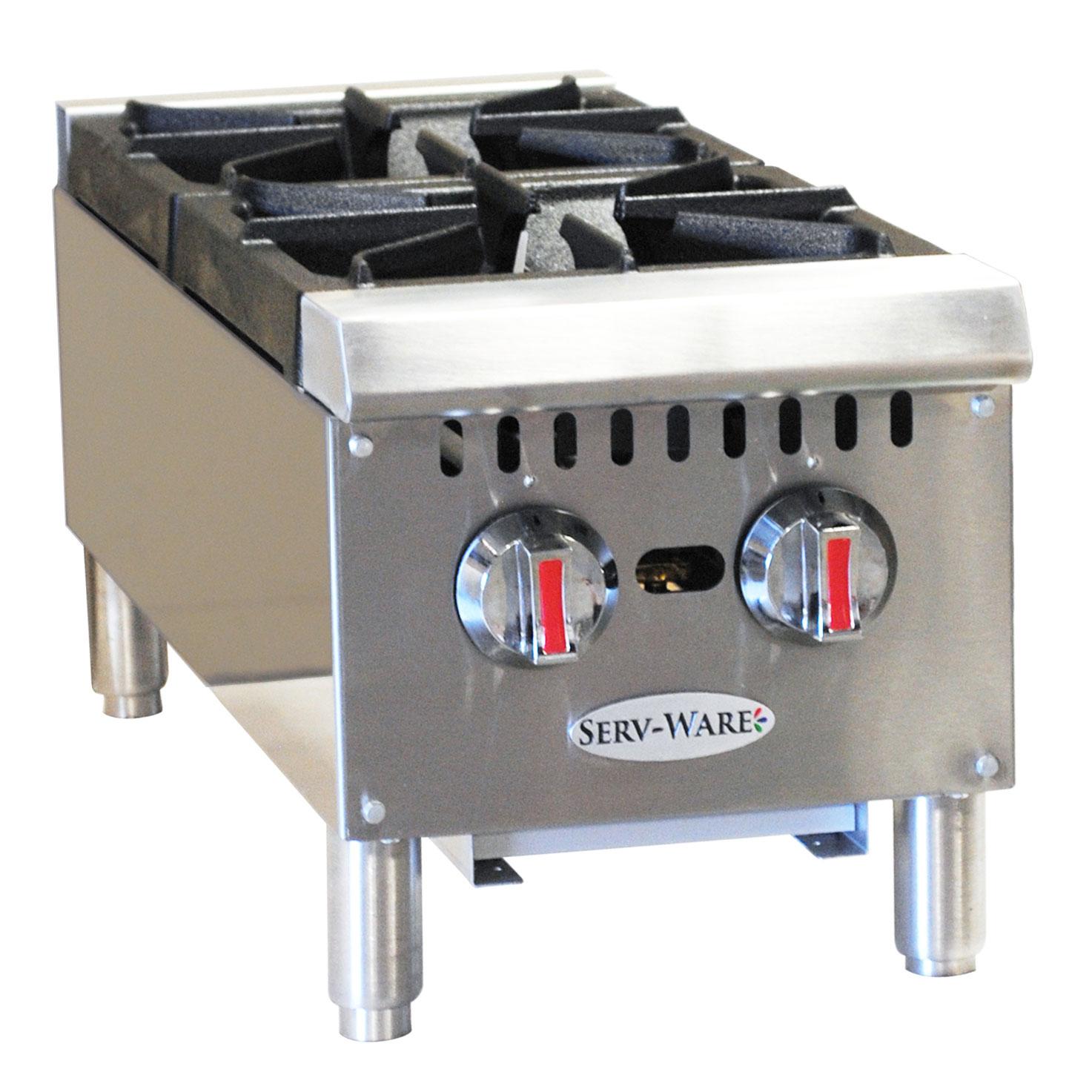 Serv-Ware SHPS-12 hotplate, countertop, gas