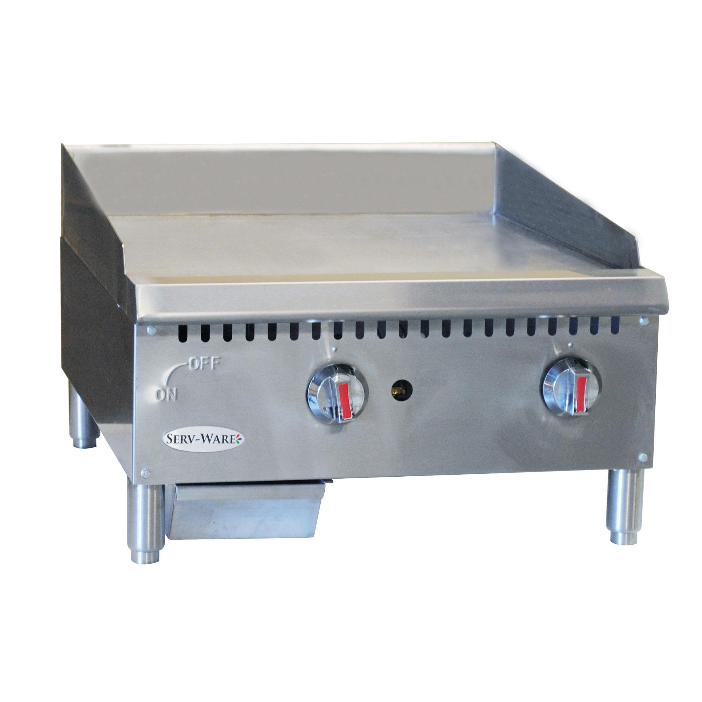 Serv-Ware SMGS-12 griddle, gas, countertop