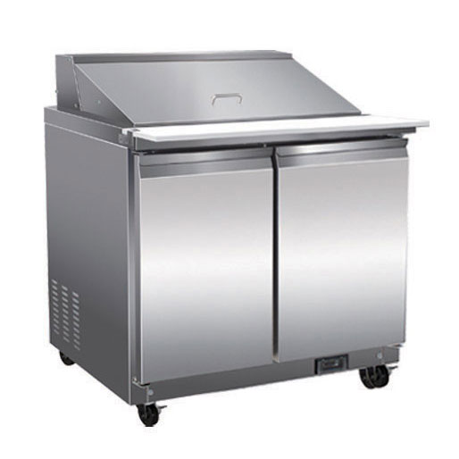Serv-Ware SP36-12M-HC refrigerated counter, mega top sandwich / salad unit
