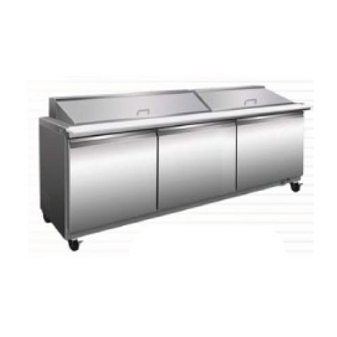 Serv-Ware SP72-27M-HC refrigerated counter, mega top sandwich / salad unit