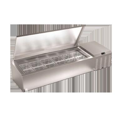 Serv-Ware TR46-HC refrigerated countertop pan rail