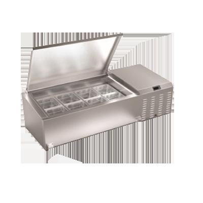 Serv-Ware TR60 refrigerated countertop pan rail