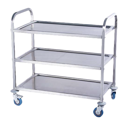Serv-Ware UC-1630S3A cart, bussing utility transport, metal