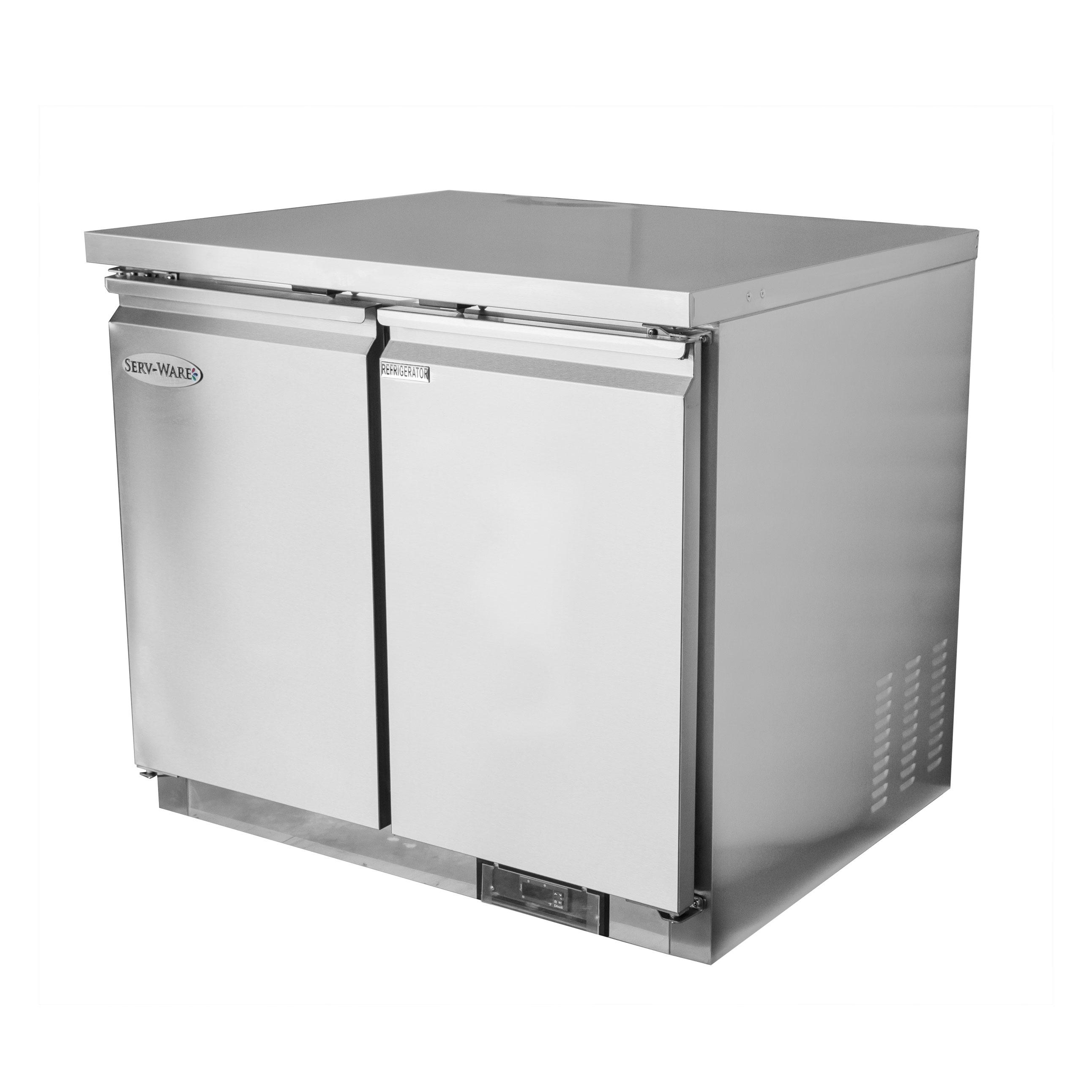 Serv-Ware UCR-36-HC refrigerator, undercounter, reach-in