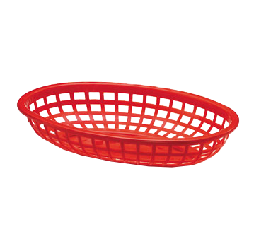 3101-00 TableCraft Products 1074R basket, fast food