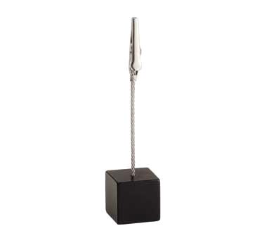 TableCraft Products 4CHSBK menu card holder / number stand