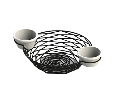 TableCraft Products BK171182 basket, tabletop, metal
