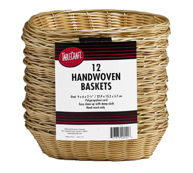 TableCraft Products C1174W basket, tabletop, plastic