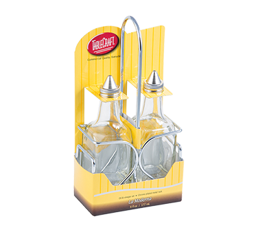 TableCraft Products H600N2 oil & vinegar cruet set