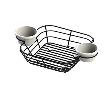 TableCraft Products H711172BK basket, tabletop, metal