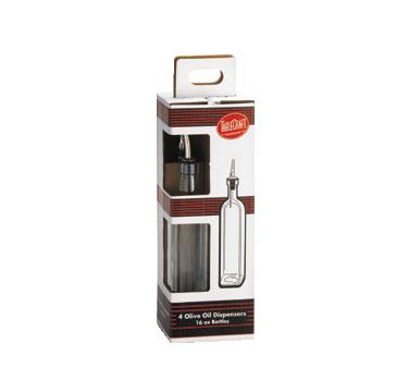 TableCraft Products H916-4 oil & vinegar cruet bottle