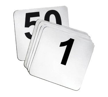 TableCraft Products N150 table numbers cards